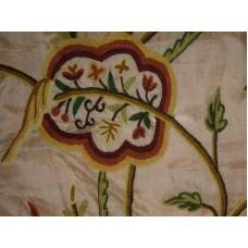 Crewel Fabric Lotus Troy Silk Organza