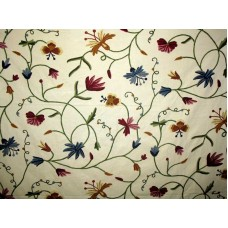 Crewel Fabric Butterfly Sweet Pine Cotton