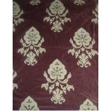 Crewel Fabric Konark Turkish Coffee Cotton Velvet