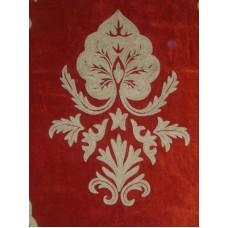 Crewel Fabric Konark Passion Red Cotton Velvet