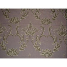 Crewel Fabric Bloom Lilac Cotton Duck