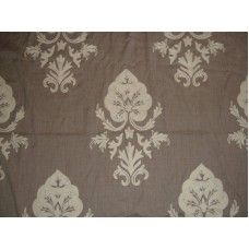 Crewel Fabric Konark White on Dark Melange Wool