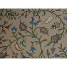 Crewel Fabric Acorn Butternut Cotton Duck