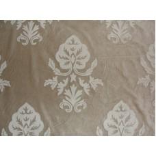 Crewel Fabric Konark White on Grey Cotton Velvet