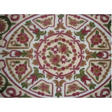 Crewel Rug Royal Garden Multi Chain Stitched Wool Rug (8x10FT)