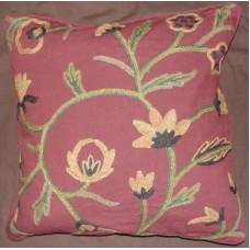 Crewel Pillow Melinda Marries Cotton Duck (20x20)