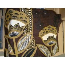Crewel Rug Arabica Dark Chocolate Chain Stitched Wool Rug (2x3FT)