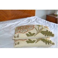 Crewel Pillow Giverny Sweetpine Cotton Duck Standard (20x26)