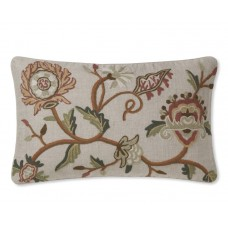 Crewel Pillow Autumnal Cotton Duck
