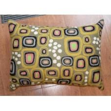 Crewel Pillow  Square Bubbles Multi Cotton Duck