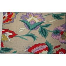 Crewel Rug Atherton modern Purple Chain Stitched Wool Rug