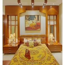 Crewel Bedding Art Nouveau Hay Gold Silk Organza