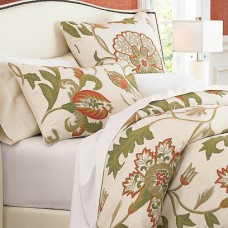 Crewel Bedding Giverny Sweet Pine Duvet Cover Cotton Duck