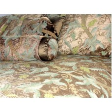 Crewel Bedding Grapevine Choco Brown Cotton Crewel Duvet Cover