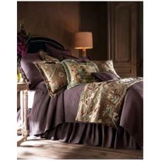 Crewel Bedding Lotus Modern Brown Cotton Viscose Velvet