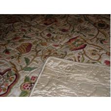 Crewel Bedding Lotus Desert Sand Silk Organza Queen