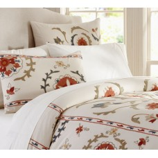 Crewel Bedding Morena Suzani Multi Embroidered Duvet