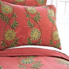 Crewel Bedding Sunflower Vine Red Cotton Duck Duvet Cover