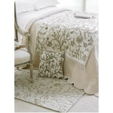 Crewel Bedding Tree of Life Neutrals on White Duvet Cover