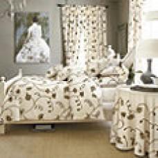 Crewel Bedding Vendanges White Cotton Duck Duvet Cover