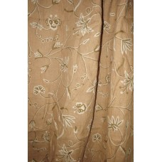 Crewel Drape Butterfly White on Natural Brown Jute