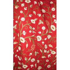 Crewel Drape Grapes Dreams Exotic Red Cotton50x118