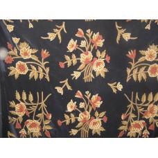 Crewel Fabric Alagposh Black Nocturn Cotton Velvet