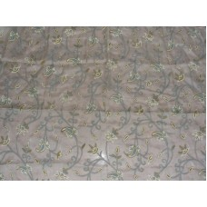 Crewel Fabric Almond Classic White Silk Organza