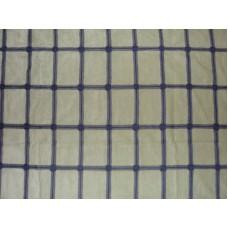 Crewel Fabric Antique Gate Blues on Sea Foam Green Cotton Velvet