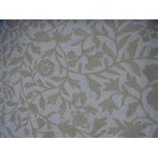 Crewel Fabric Carla White on White Cotton Duck