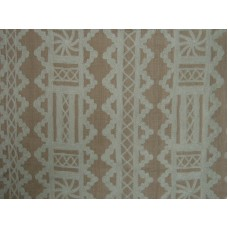 Crewel Fabric Chariot Light Brown Linen