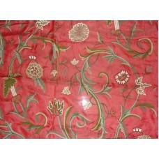 Crewel Fabric Curve Queen Pink Silk Organza