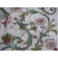 Crewel Fabric Curve Sweetpine Cotton Duck