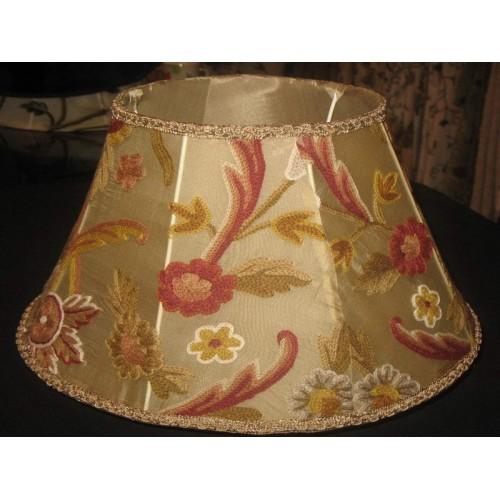 Crewel lamp shade art nouveau gold silk organza aloadofball Choice Image