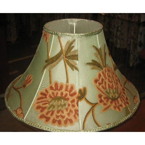 Crewel lamp shade wintertime pistachio silk organza aloadofball Choice Image