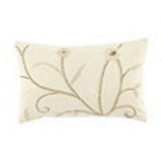 Crewel Pillow Belle Vigne Off White Cotton Duck (12x20)