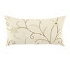 Crewel Pillow Belle Vigne Off White Cotton Duck (15x30)