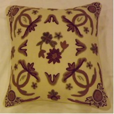 Crewel Pillow Sham Art Nouveau Sweet Pine Cotton Duck1