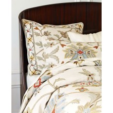 Oushak Multi Cotton Duck Crewel Coverlet