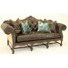 Crewel Shalimar Ocean Blue Cotton Viscose Velvet Upholstered Tuf