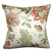 Crewel Pillow Adele Pastel Cotton Duck