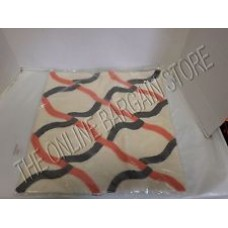 Crewel Pillow Bergamot Geo Black and Red Cotton Duck