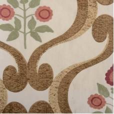 Crewel Fabric Carole Red/Clay