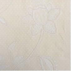 Crewel Fabric Celine Antique White