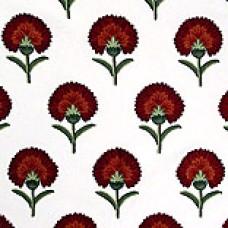 Crewel Fabric Cockscomb Red Cotton Duck