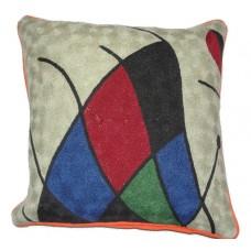 Crewel ChainStitch Pillow Ananth Multi Cotton (20x20)