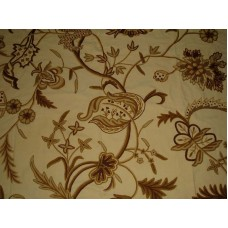 Crewel Fabric Chelsea Gold Cotton Duck