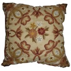 Crewel Pillow Art Nouveau Troy Silk Organza