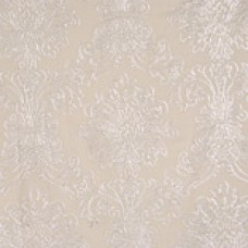 Crewel Fabric Damask Neutral Cotton Duck