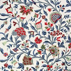 Crewel Fabric Danzdar Blue and Red Cotton Duck